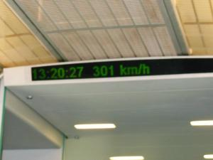Taking the Maglev (Shanghai speed rail) to meet mum